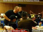 44 Keith Smith serves dinner to homeless friends at Uptown Church Christmas 2014