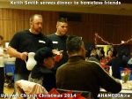 45 Keith Smith serves dinner to homeless friends at Uptown Church Christmas 2014