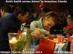 52 Keith Smith serves dinner to homeless friends at Uptown Church Christmas 2014