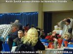 55 Keith Smith serves dinner to homeless friends at Uptown Church Christmas 2014