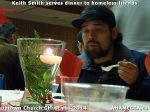 59 Keith Smith serves dinner to homeless friends at Uptown Church Christmas 2014