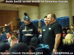 60 Keith Smith serves dinner to homeless friends at Uptown Church Christmas 2014
