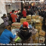 66 AHA MEDIA at Willow Addictions Rehabilitation Society giving back to the DTES