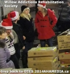 68 AHA MEDIA at Willow Addictions Rehabilitation Society giving back to the DTES