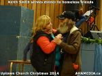 71 Keith Smith serves dinner to homeless friends at Uptown Church Christmas 2014