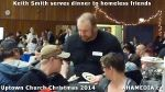 73 Keith Smith serves dinner to homeless friends at Uptown Church Christmas 2014