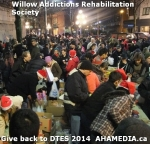 79 AHA MEDIA at Willow Addictions Rehabilitation Society giving back to the DTES