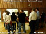 8 Keith Smith serves dinner to homeless friends at Uptown Church Christmas2014