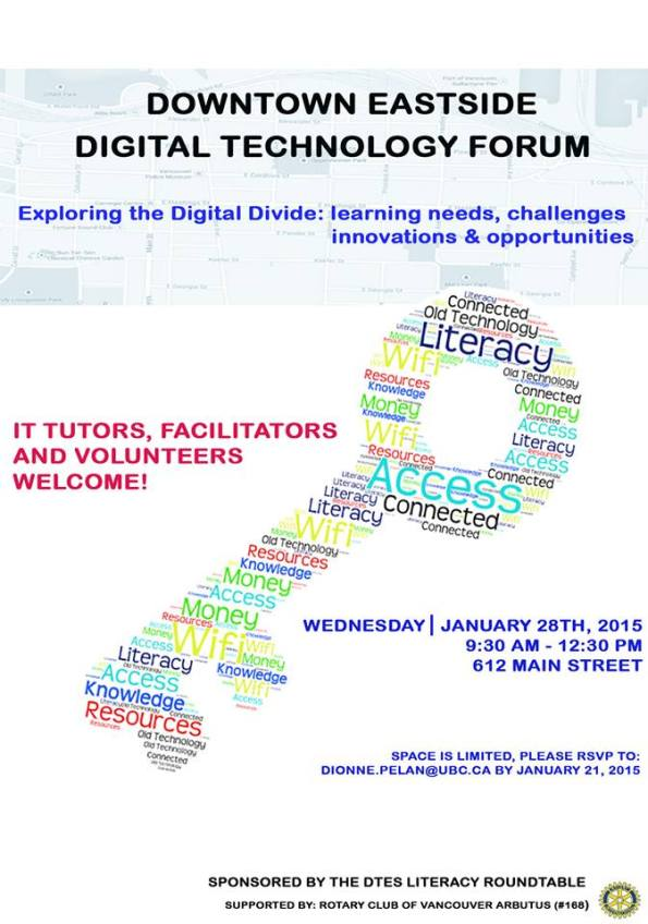 DTES literacy forum