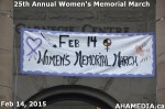 1 AHA MEDIA at 25th Annual Women's Memorial March on Feb 14, 2015 in Vancouver DTES