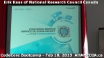 1 AHA MEDIA at Erik Kaas of National Research Council of Canada talk at CodeCoreBootcamp - Feb 18, 20