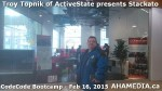1 AHA MEDIA at Troy Topnik of ActiveState talk at CodeCore Bootcamp community week Feb 16 2015 in Van