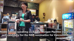 1 Are you concerened about Kinder Morgan pipeline expansion event with Mable Elmore and Sven Biggs in Vancouver (7)