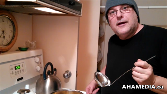 1 Garvin Snider of AHA MEDIA enjoys National Homemade Soup Day - Feb 4, 2015 in Vancouver