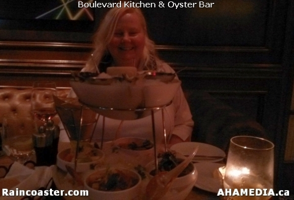 10 AHA MEDIA and Raincoaster at Boulevard Kitchen & Oyster Bar in Sutton Place Hotel, Vancouver