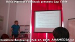 11 AHA MEDIA at Boris Mann of Full Stack presents Cap Tables & Shares at CodeCore Bootcamp Community W