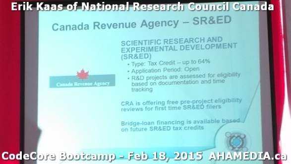 12 AHA MEDIA at Erik Kaas of National Research Council of
