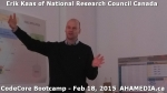 13 AHA MEDIA at Erik Kaas of National Research Council of Canada talk at CodeCoreBootcamp - Feb 18, 20