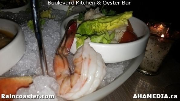 15 AHA MEDIA and Raincoaster at Boulevard Kitchen & Oyster Bar in Sutton Place Hotel, Vancouver