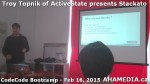 15 AHA MEDIA at Troy Topnik of ActiveState talk at CodeCore Bootcamp community week Feb 16 2015 in Van