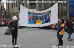 18 AHA MEDIA at 25th Annual Women's Memorial March on Feb 14, 2015 in Vancouver DTES