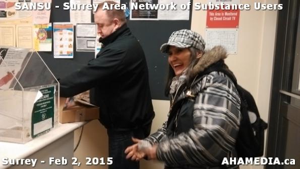 2 AHA MEDIA at SANSU - Surrey Area Network of Substance Users Meeting on Feb 2, 2015