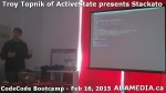 23 AHA MEDIA at Troy Topnik of ActiveState talk at CodeCore Bootcamp community week Feb 16 2015 in Van