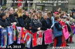 25 AHA MEDIA at 25th Annual Women's Memorial March on Feb 14, 2015 in Vancouver DTES
