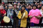 28 AHA MEDIA at 25th Annual Women's Memorial March on Feb 14, 2015 in VancouverDTES