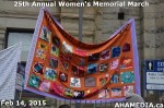 3 AHA MEDIA at 25th Annual Women's Memorial March on Feb 14, 2015 in Vancouver DTES