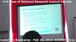 3 AHA MEDIA at Erik Kaas of National Research Council of Canada talk at CodeCoreBootcamp - Feb 18, 20