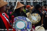 31 AHA MEDIA at 25th Annual Women's Memorial March on Feb 14, 2015 in Vancouver DTES