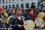 32 AHA MEDIA at 25th Annual Women's Memorial March on Feb 14, 2015 in Vancouver DTES