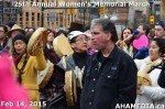34 AHA MEDIA at 25th Annual Women's Memorial March on Feb 14, 2015 in Vancouver DTES