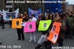 35 AHA MEDIA at 25th Annual Women's Memorial March on Feb 14, 2015 in VancouverDTES