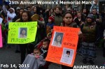 36 AHA MEDIA at 25th Annual Women's Memorial March on Feb 14, 2015 in VancouverDTES