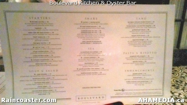 4 AHA MEDIA and Raincoaster at Boulevard Kitchen & Oyster Bar in Sutton Place Hotel, Vancouver