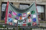 4 AHA MEDIA at 25th Annual Women's Memorial March on Feb 14, 2015 in VancouverDTES