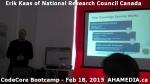 4 AHA MEDIA at Erik Kaas of National Research Council of Canada talk at CodeCoreBootcamp – Feb 18,20