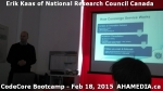 4 AHA MEDIA at Erik Kaas of National Research Council of Canada talk at CodeCoreBootcamp - Feb 18, 20