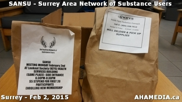 4 AHA MEDIA at SANSU - Surrey Area Network of Substance Users Meeting on Feb 2, 2015