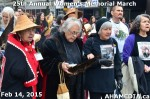 43 AHA MEDIA at 25th Annual Women's Memorial March on Feb 14, 2015 in VancouverDTES