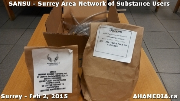 5 AHA MEDIA at SANSU - Surrey Area Network of Substance Users Meeting on Feb 2, 2015