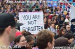55 AHA MEDIA at 25th Annual Women's Memorial March on Feb 14, 2015 in Vancouver DTES