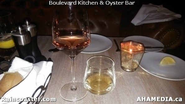 6 AHA MEDIA and Raincoaster at Boulevard Kitchen & Oyster Bar in Sutton Place Hotel, Vancouver