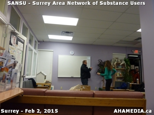 6 AHA MEDIA at SANSU - Surrey Area Network of Substance Users Meeting on Feb 2, 2015