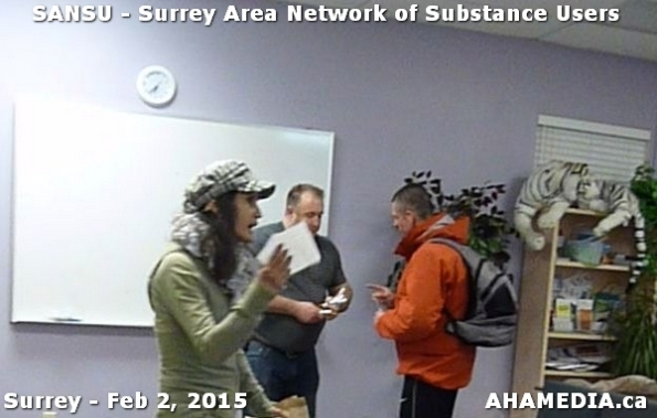 7 AHA MEDIA at SANSU - Surrey Area Network of Substance Users Meeting on Feb 2, 2015