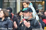 85 AHA MEDIA at 25th Annual Women's Memorial March on Feb 14, 2015 in Vancouver DTES
