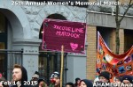 87 AHA MEDIA at 25th Annual Women's Memorial March on Feb 14, 2015 in Vancouver DTES