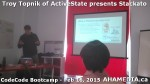 9 AHA MEDIA at Troy Topnik of ActiveState talk at CodeCore Bootcamp community week Feb 16 2015 in Van
